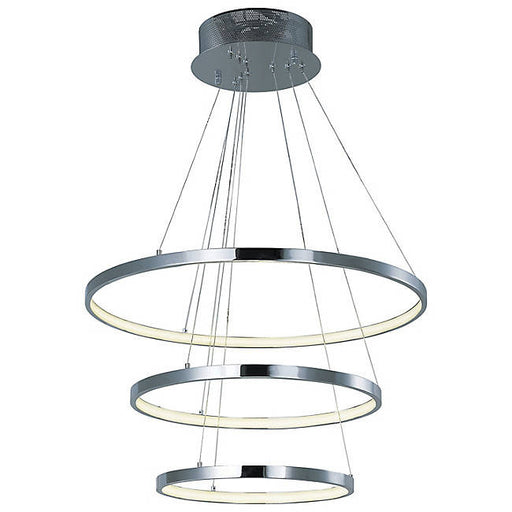 Hoops LED 3-Tier Pendant - Polished Chrome
