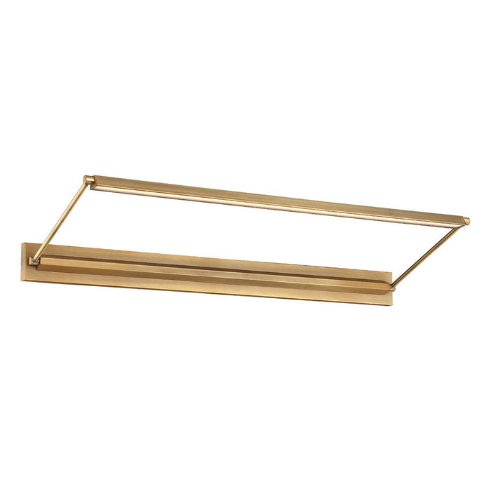 "Hudson 34"" LED Picture Light - Aged Brass Finish"