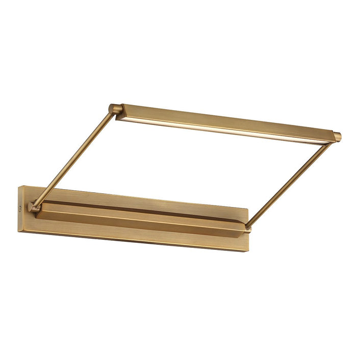 "Hudson 17"" LED Picture Light - Aged Brass Finish"