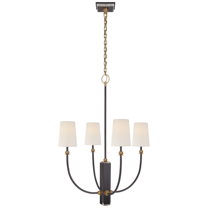 Hulton Medium Chandelier - Bronze/Hand-Rubbed Antique Brass Finish