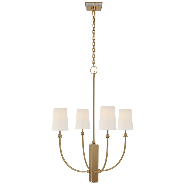 Hulton Medium Chandelier - Hand-Rubbed Antique Brass Finish
