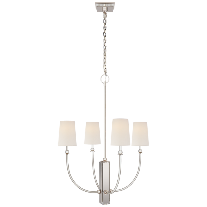 Hulton Medium Chandelier - Polished Nickel Finish