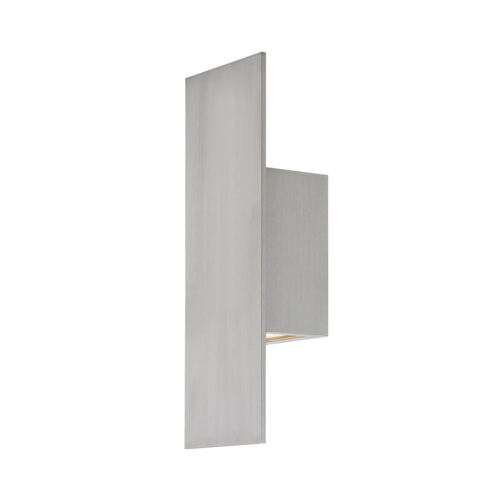 Icon LED Small Outdoor Sconce - Brushed Aluminum