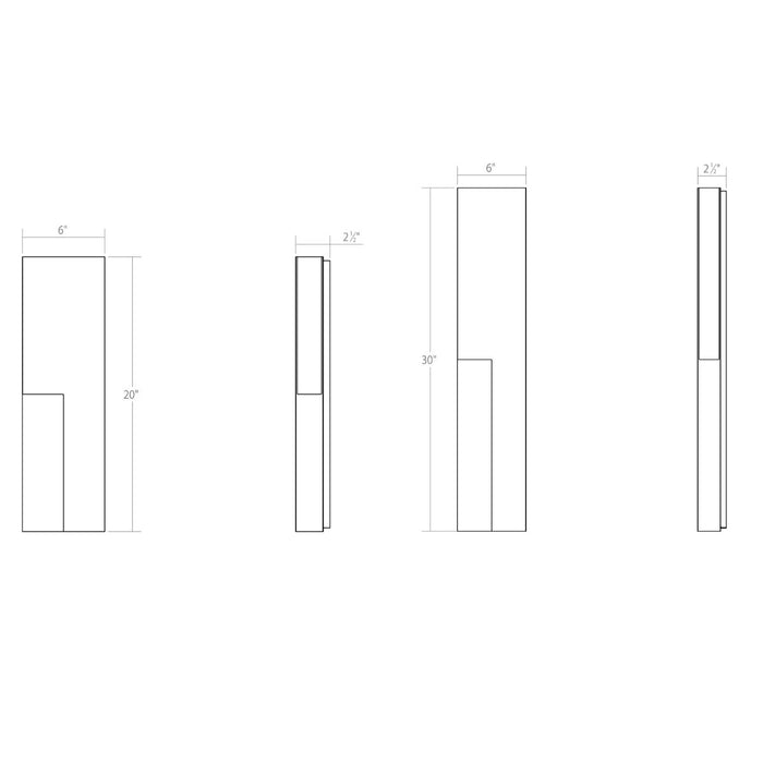 Incavo LED Outdoor Wall Sconce - Diagram