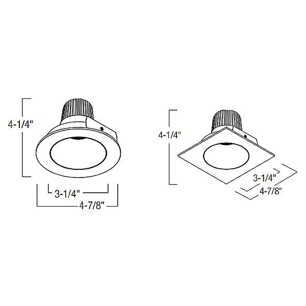 "Iolite 4"" Reflector LED Trim - Diagram"