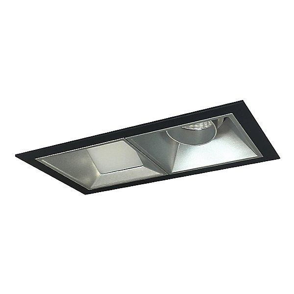 Iolite MLS LED Adjustable Snoot and Wall Wash Two Head Trim Set - Haze Trim with Black Flange