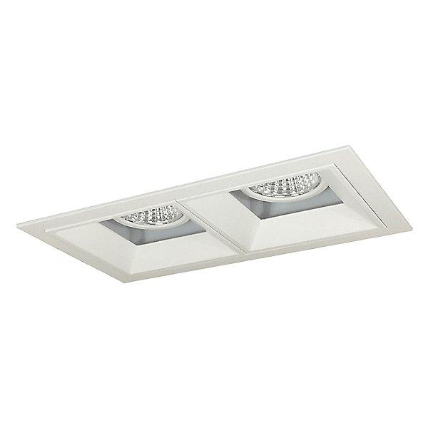 Iolite MLS LED Adjustable Snoot and Wall Wash Two Head Trim Set - Matte Powder White Trim with Matte Powder White Flange