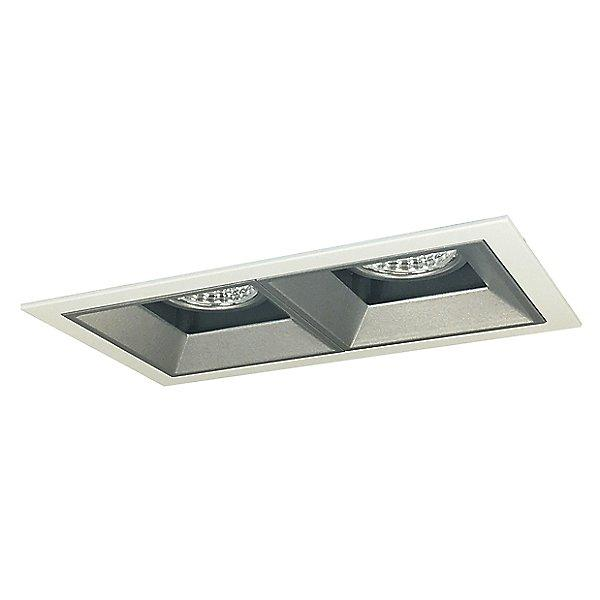 Iolite MLS LED Fixed Downlight Two Head Trim Set - Haze Trim with Matte Powder White Flange