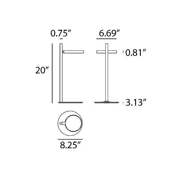 Ipparco Table Lamp - Diagram