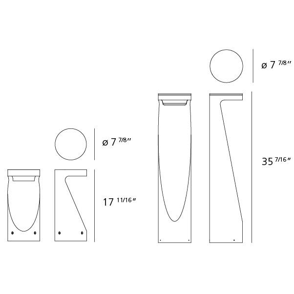 Ippolito LED Bollard - Diagram