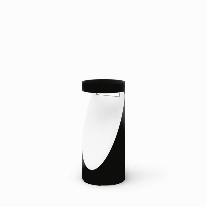Ippolito Small LED Bollard - Anthracite Gray/White Finish