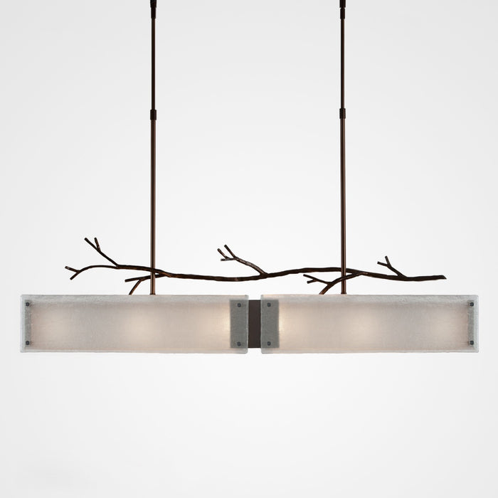 Ironwood Linear Suspension Light - Oiled Rubbed Bronze/Frosted Glass