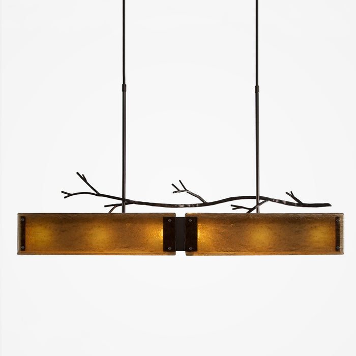 Ironwood Linear Suspension Light - Gunmetal/Bronze Granite