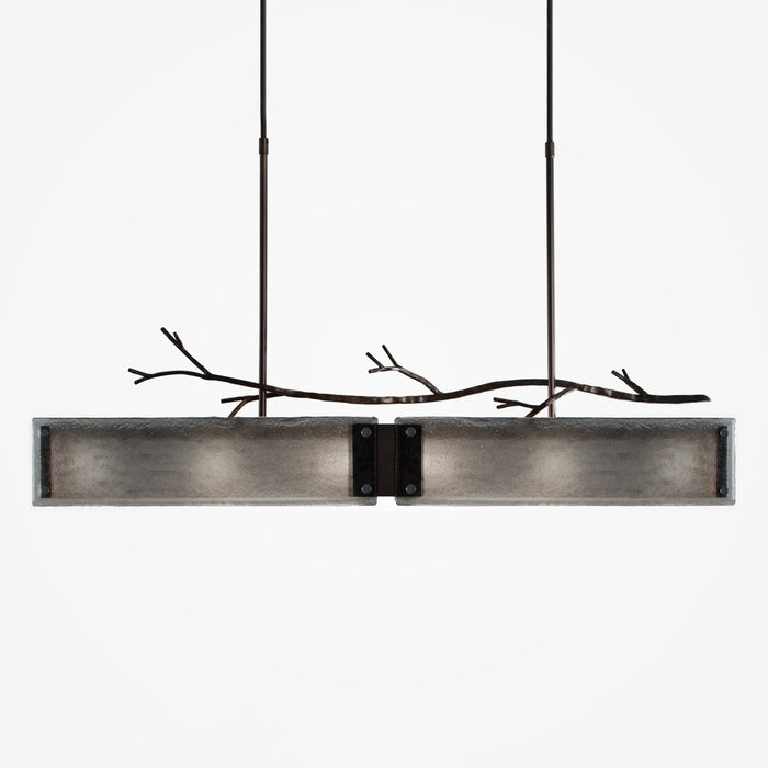 Ironwood Linear Suspension Light - Gunmetal/Smoke Granite
