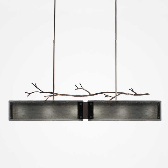 Ironwood Linear Suspension Light - Satin Nickel/Smoke Granite
