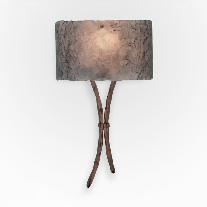 Ironwood Sprout Glass Wall Sconce - Oil Rubbed Bronze/Smoke Granite