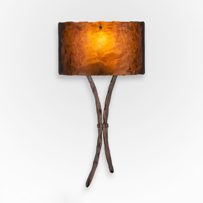 Ironwood Sprout Glass Wall Sconce - Oil Rubbed Bronze/Bronze Granite