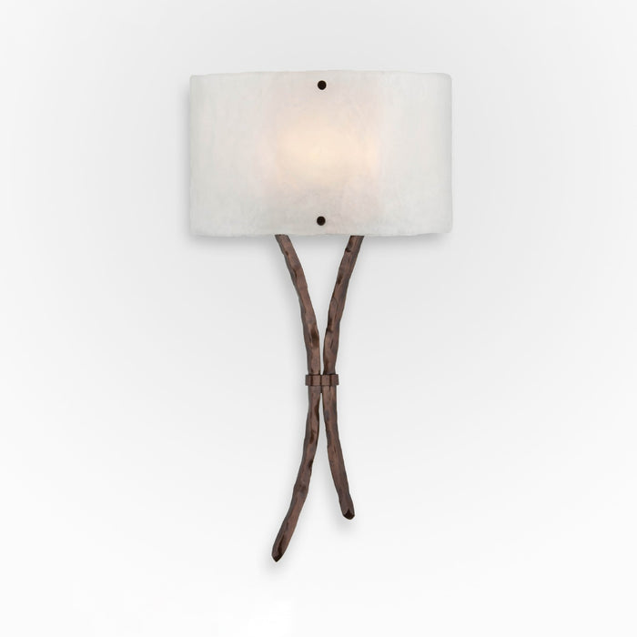Ironwood Sprout Glass Wall Sconce - Oil Rubbed Bronze/Frosted Granite