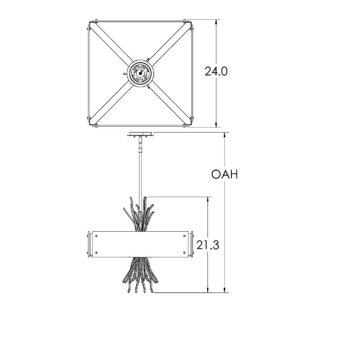 Ironwood Square Chandelier - Diagram