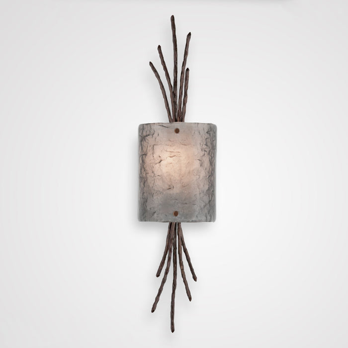 Ironwood Thistle Glass Wall Sconce - Oil Rubbed Bronze/Smoke Granite
