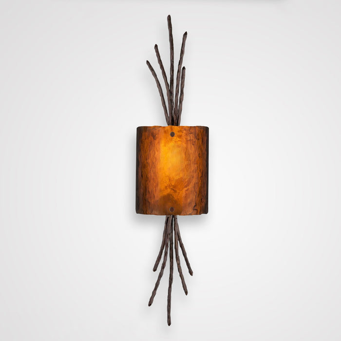 Ironwood Thistle Glass Wall Sconce - Oil Rubbed Bronze/Bronze Granite