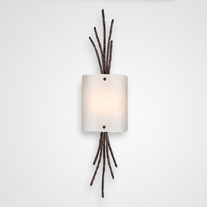 Ironwood Thistle Glass Wall Sconce - Oil Rubbed Bronze/Frosted Granite