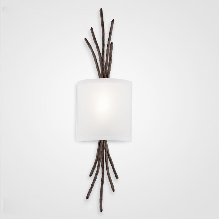 Ironwood Thistle Linen Wall Sconce - Oiled Rubbed Bronze/Linen Shade
