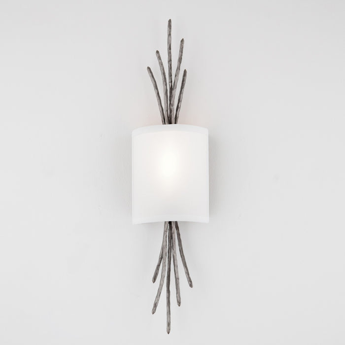 Ironwood Thistle Linen Wall Sconce - Satin Nickel/Linen Shade