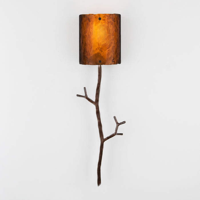 Ironwood Twig Glass Wall Sconce - Oiled Rubbed Bronze/Bronze Granite