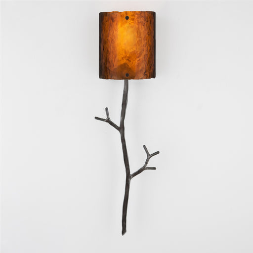 Ironwood Twig Glass Wall Sconce - Gunmetal/Bronze Granite