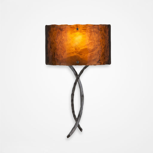 Ironwood Twist Glass Wall Sconce - Gunmetal/Bronze Granite