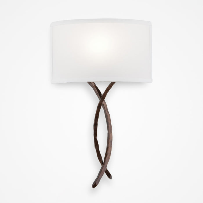 Ironwood Twist Linen Wall Sconce - Oiled Rubbed Bronze/Linen Shade