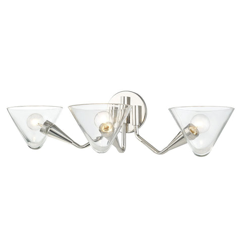 Isabella 3-Light Wall Sconce - Polished Nickel