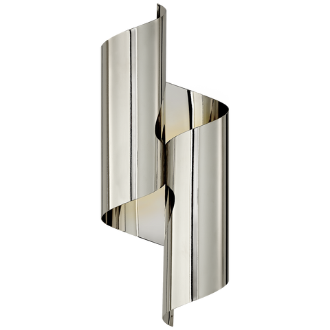 Iva Medium Wrapped Sconce Polished Nickel
