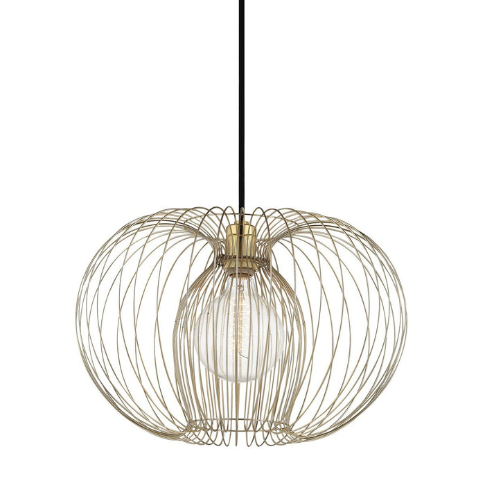 "JASMINE 17"" PENDANT Polished Brass"