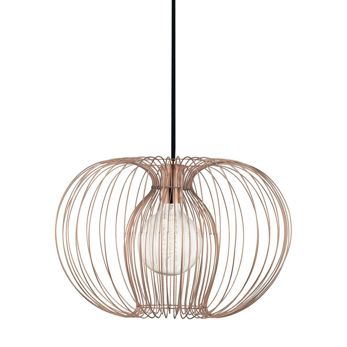 "JASMINE 17"" PENDANT Polished Copper"
