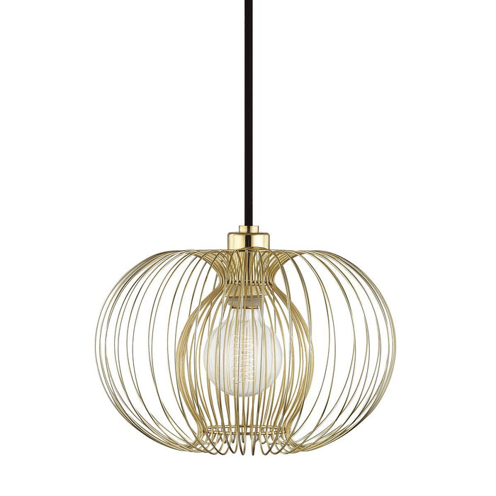 "JASMINE 12"" PENDANT Polished Brass"