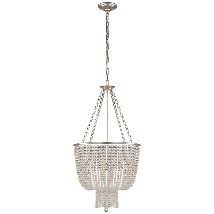 Jacqueline Chandelier - Burnished Silver Leaf/Clear Glass
