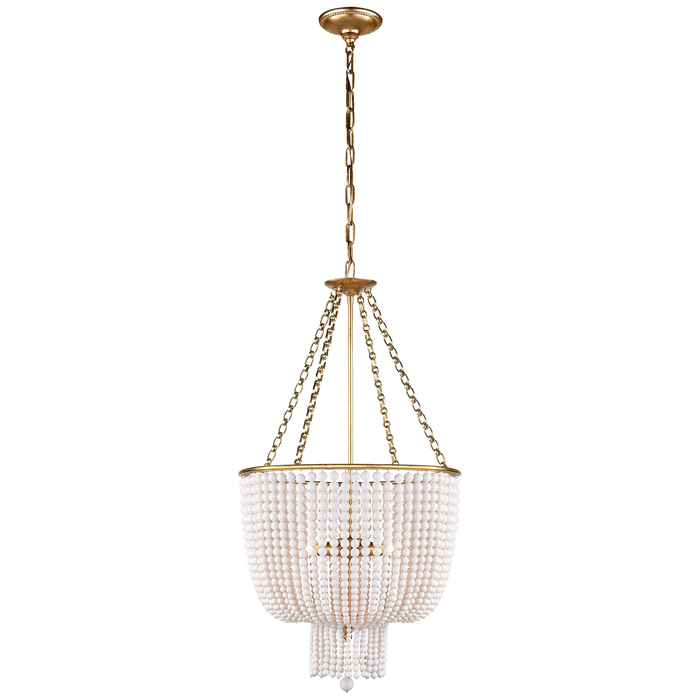 Jacqueline Chandelier - Hand-Rubbed Antique Brass/White Acrylic