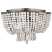 Jacqueline Flush-Mount - Burnished Silver Leaf/White Acrylic