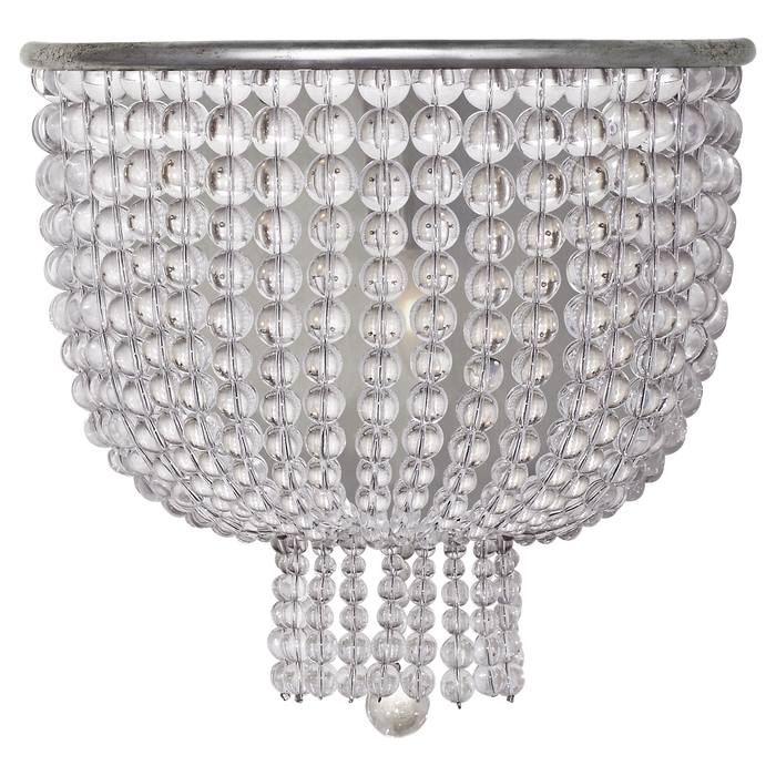 Jacqueline Medium Sconce - Burnished Silver Leaf/Clear Glass
