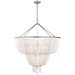 Jacqueline Two-Tier Chandelier - Burnished Silver Leaf/White Acrylic