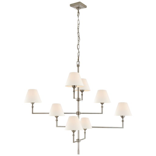 Jane Large Offset Chandelier - Antique Nickel Finish