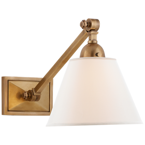 Jane Single Library Wall Light - Hand-Rubbed Antique Brass