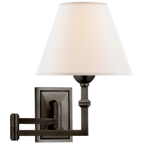 Jane Swing Arm Wall Light - Gun Metal