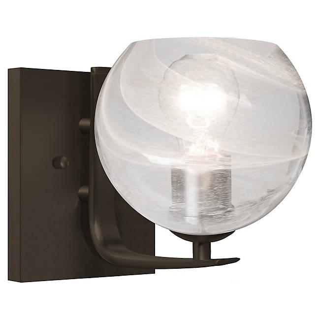 Jilly Wall Sconce - Bronze/Clear