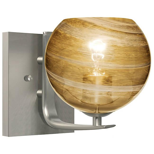 Jilly Wall Sconce - Satin Nickel/Amber