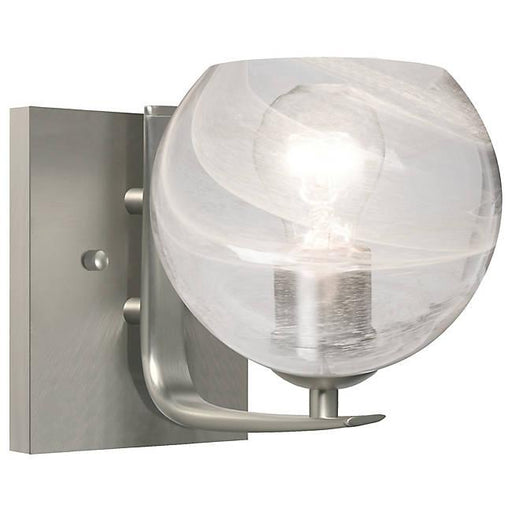 Jilly Wall Sconce - Satin Nickel/Clear