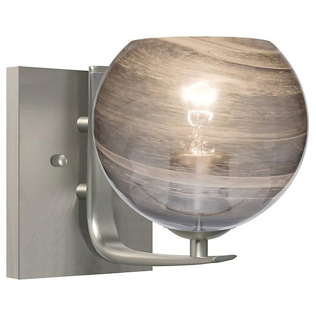 Jilly Wall Sconce - Satin Nickel/Smoke