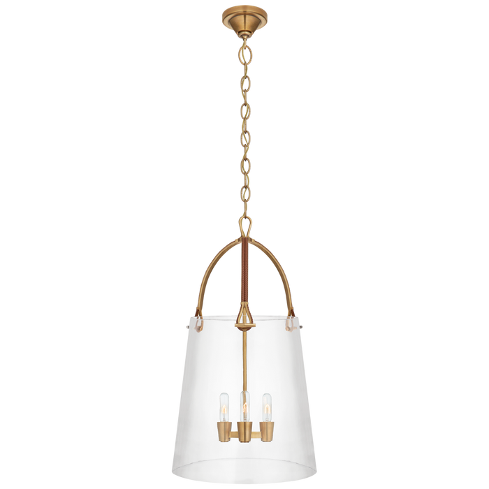 Julian Large Lantern - Natural Brass Finish